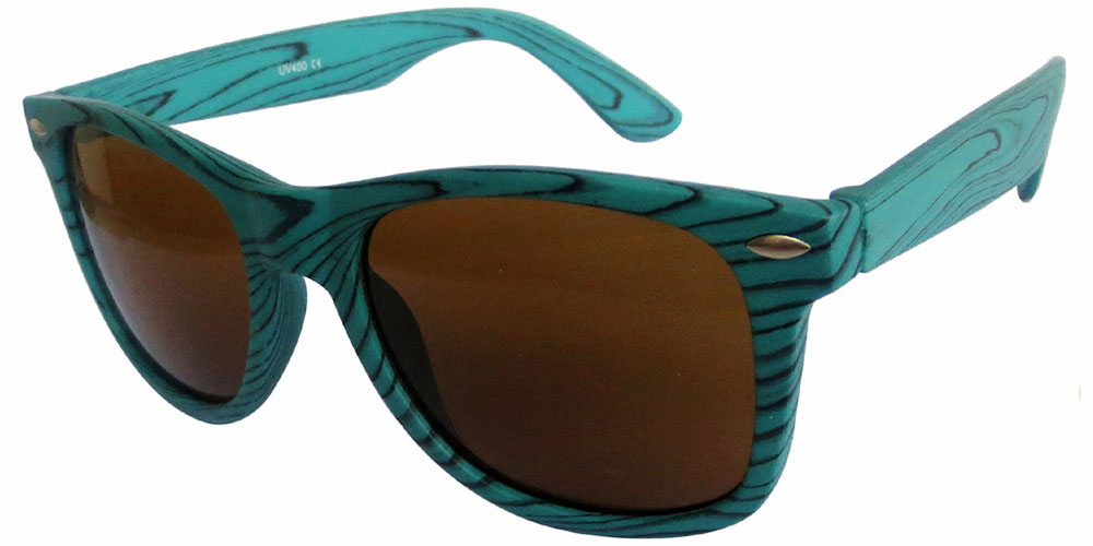 Blue wooden grain color with Brown lens