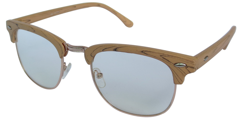 Wooden grain frames with clear lens