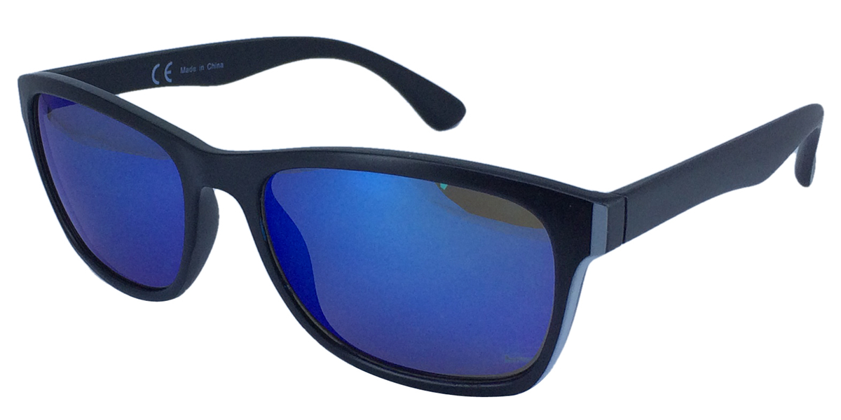 Double color frames with Blue mirror lens